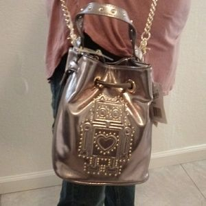 Platinum crossbody purse